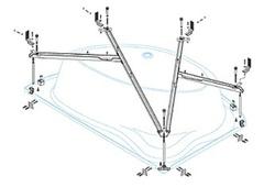Металлический каркас Cezares Tebe TEBE-MF-L левосторонний