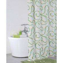 Штора для ванной комнаты IDDIS Flower Lace Green 412P20RI11