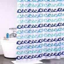 Штора для ванной комнаты Milardo Blue Curls 910P180M11