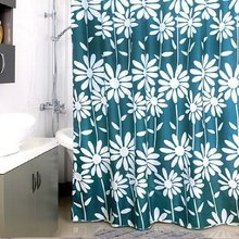Штора для ванной комнаты Milardo Flowers Blue 950P180M11