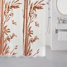 Штора для ванной комнаты Milardo Bamboo (brown) 511V180M11