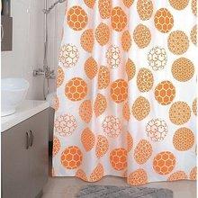 Штора для ванной комнаты Milardo Orange dots 850P180M11
