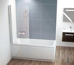 Шторка для ванны Ravak Chrome CVS1-80 R 7QR40U00Z1 сатин+стекло Transparent
