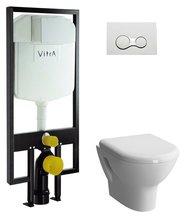 Комплект унитаз Vitra Zentrum 9012B003-7205 с инсталляцией