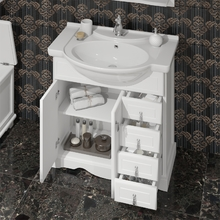 Тумба под раковину Opadiris Клио 70 00-00000235 белый матовый