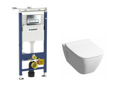 Комплект унитаз Rimfree подвесной KERAMAG SMYLE Set Smyle 57153+458.125 с инсталляцией + клавиша + сиденье