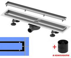 """Комплект tecelinus new для монтажа дренажного канала с основой для плитки """"tile"""", со стаканом с мембраной, длина 900 мм KL9010"""