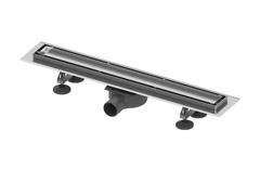 """Комплект tecelinus для монтажа дренажного канала 2 в 1 - с основой для плитки """"tile""""/панелью """"steel"""" , длина 900 мм 15103090"""