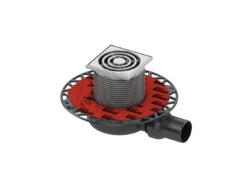 Трап дренажный tecedrainpoint s 110, низкий с универсальным фланцем seal system 3601100