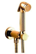 Гигиенический душ Bossini Nikita E37008.021 со смесителем (золото)