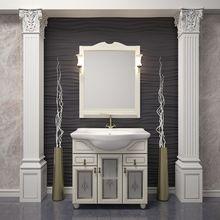 Тумба для ванной Opadiris Тибет 70 с художественным стеклом слоновая кость
