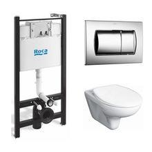 Инсталляция Roca Pro WC ПЭК 893100010 в комплекте с унитазом Roca Mateo микролифт