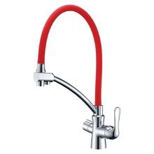 Смеситель для кухни Lemark Comfort LM3070C-Red