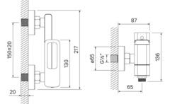 Смеситель для ванны Iddis Slide SLISB00i02WA хром