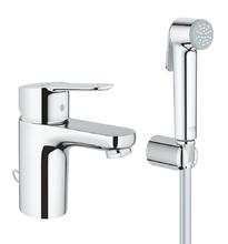 Смеситель для раковины Grohe BauEdge 23757000 с гигиеническим душем