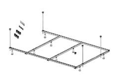 Каркас металлический Riho 190x130 см