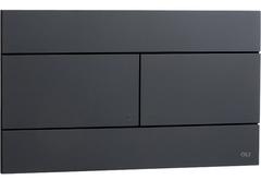 Смывная клавиша OLI SLIM 659055 механическая, черный