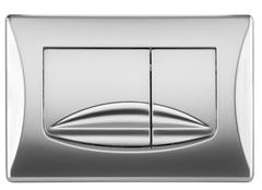 Смывная клавиша OLI RIVER DUAL 638506 механическая, хром матовый