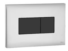 Смывная клавиша OLI KARISMA 641019 пневматическая, хром глянцевый/черный