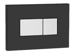 Смывная клавиша OLI KARISMA 641017 пневматическая, хром глянцевый/черный