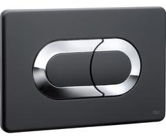 Смывная клавиша OLI SALINA 640097 пневматическая, хром глянцевый/черный