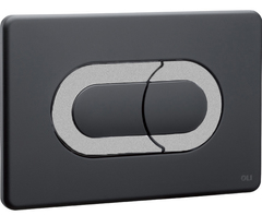 Смывная клавиша OLI SALINA 640099 пневматическая, хром матовый/черный