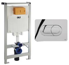 Инсталляция для подвесного унитаза OLI 80 300573pSa00 с кнопкой смыва Salina хром глянцевый