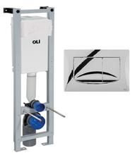 Инсталляция для подвесного унитаза OLI QUADRA 280490mRi00 с кнопкой смыва River хром глянцевый