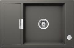 Кухонная мойка Schock Eton 60d Small Cristadur, серебристый камень
