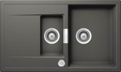 Кухонная мойка Schock Eton 60d Cristadur, серебристый камень