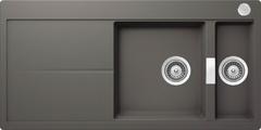 Кухонная мойка Schock Horizont 60d Cristadur, серебристый камень