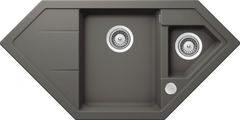 Кухонная мойка Schock Signus 90c Cristadur, серебристый камень