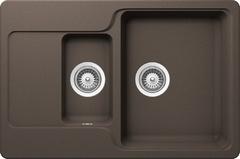 Кухонная мойка Schock Cambridge 60D CRISTALITE, мокка