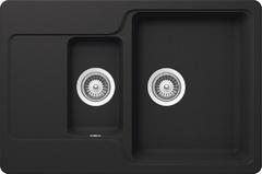 Кухонная мойка Schock Cambridge 60D CRISTALITE, оникс