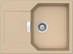 Кухонная мойка Schock Manhattan 45D CRISTALITE (Комплектация 1), лунный камень