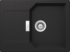 Кухонная мойка Schock Manhattan 45D CRISTALITE (Комплектация 1), оникс