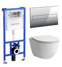 Инсталляция Laufen Pro ПЭК 8.6996.6.000.000.R в комплекте с унитазом Pro Rimless микролифт