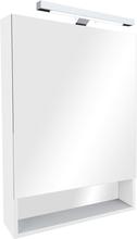 Зеркало-шкаф 60 см Roca Gap ZRU9302885 со светильником белый глянец