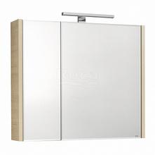 Зеркало-шкаф Etna 80х65 см, дуб верона, с подсветкой 857304445