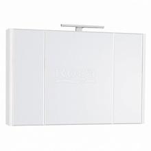 Зеркало-шкаф Etna 80х65 см, белый глянец, с подсветкой 857304806