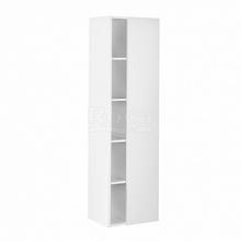 Шкаф-колонна etna 45,5х30,6х160 см, белый глянец, зеркальная дверца, реверсивная установка двери, подвесной монтаж 857303806