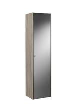 Шкаф-колонна inspira 40х30х160 см, с внутренней подсветкой, темный дуб, зеркальный фасад, правый 857034403
