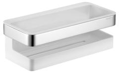 Полка для ванной Keuco Collection Moll 12758010000 хром, белый