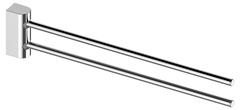 Вешалка для полотенца двойная, поворотная Keuco Smart.2 14718010000 хром 41 см