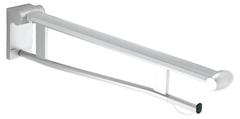 Складной поручень для туалета со съемным держателем туалетной бумаги KEUCO PLAN CARE 34903010751 Хром/белый