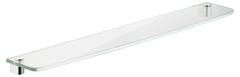 Полка из хрустального стекла 600 x 10 x 131 мм без держателей KEUCO ELEGANCE NEW 11610009600 Белый