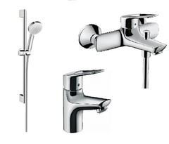Комплект смесителей hansgrohe Novus Loop-Crommeta 71080000+71340000+26651400