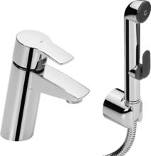 Смеситель для раковины Oras Cubista 2812F с гигиеническим душем
