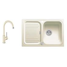 Комплект мойка+смеситель Blanco CLASSIC 45 S SILGRANIT 521311M2 жасмин+MIDA жасмин