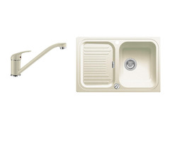 Комплект мойка+смеситель Blanco CLASSIC 45 S SILGRANIT 521311D2 жасмин+DARAS жасмин